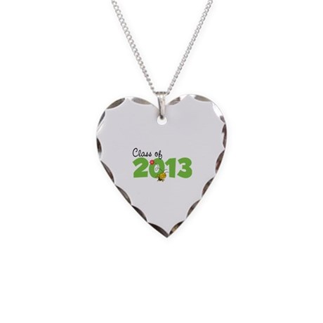 Class of 2013 Necklace Heart Charm