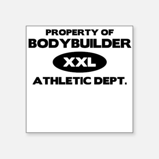 Bodybuilder Square Sticker