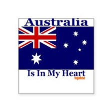 Australia - Heart Square Sticker