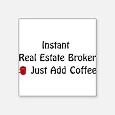 Real Estate Broker Square Sticker