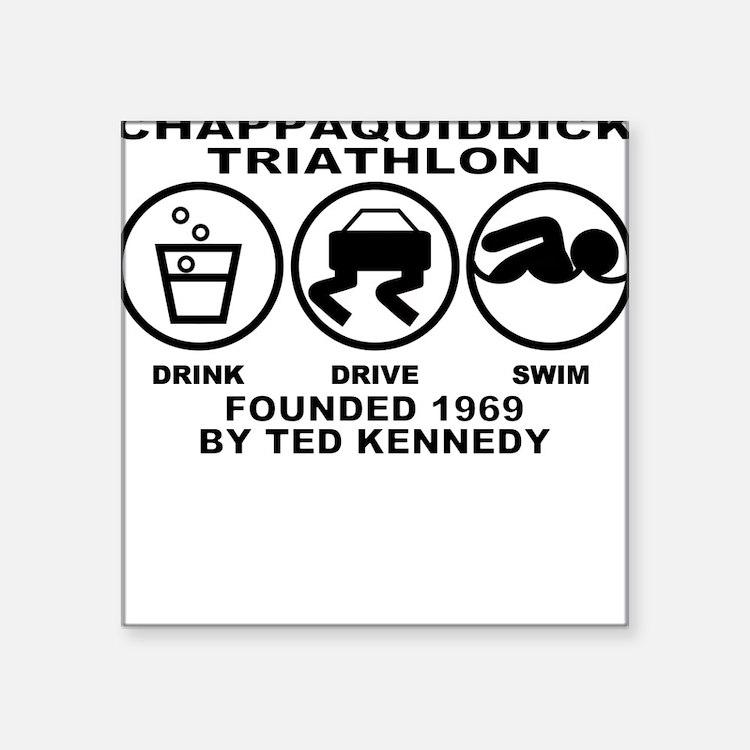 Chappaquiddick Triathlon Square Sticker