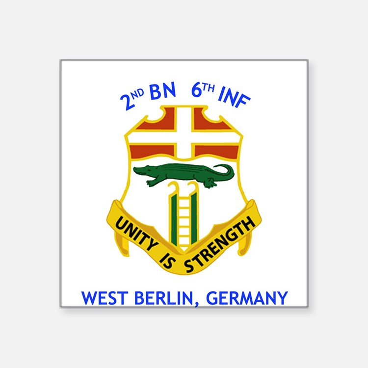 2nd BN 6th INF Gear Square Sticker