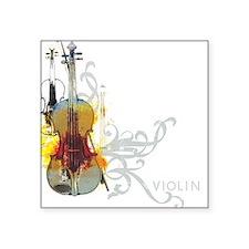 Violin Art 01 Square Sticker