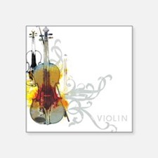 Violin Art 01 Square Sticker
