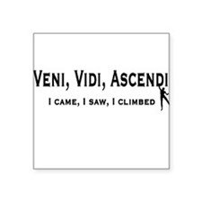 Veni, Vidi, Ascendi Square Sticker