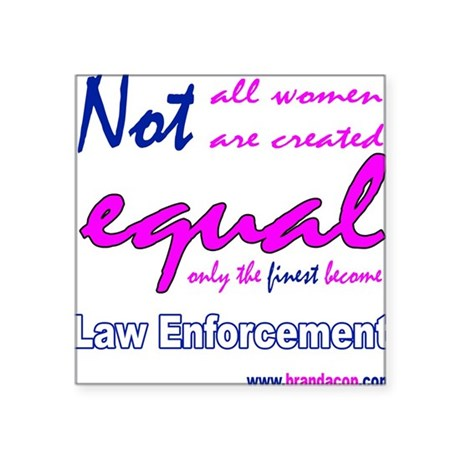 Lady Gear Square Sticker EQUALITY