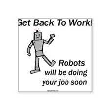 Robots Square Sticker