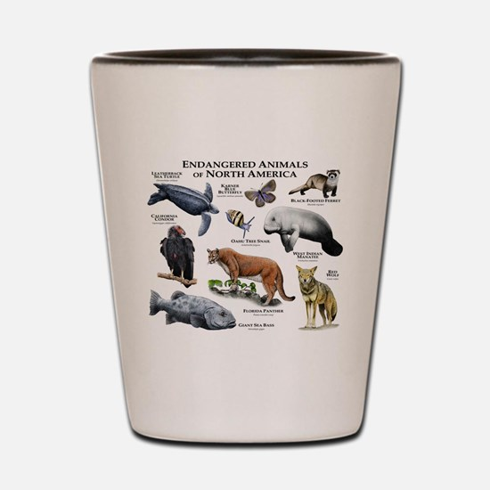 Endangered Species of North America Shot Glass