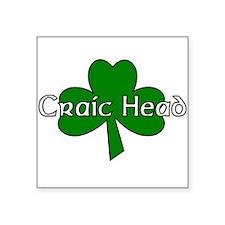 Craic Head Square Sticker