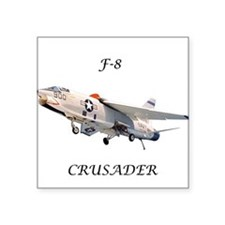 F-8 Crusader Square Sticker