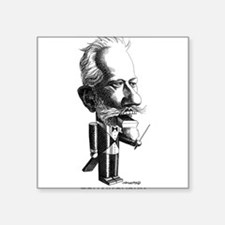 Tchaikovsky Square Sticker