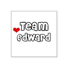 Team Edward Square Sticker