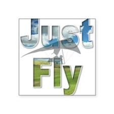 Just Fly Hang Gliding Square Sticker