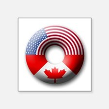 USA - Canada Square Sticker