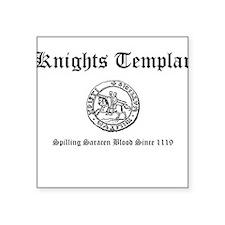 Knights Templar Saracen Blood Square Sticker