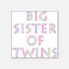Big Sister of Twins Square Sticker