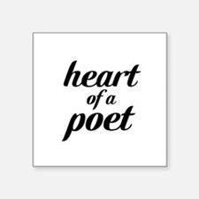 heart of a poet Square Sticker