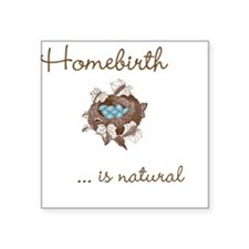 Homebirth Square Sticker