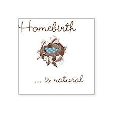 Homebirth Square Sticker