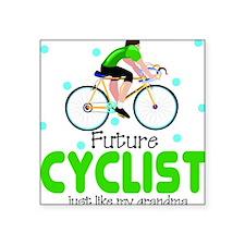 Future Cyclist like Grandma Baby Square Sticker