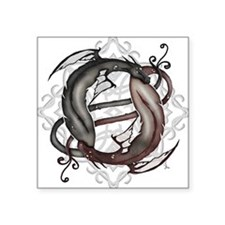 Twined Dragons - Square Sticker