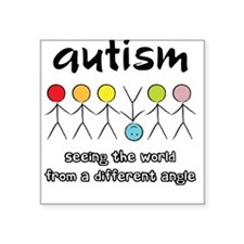 Autism Angle Square Sticker