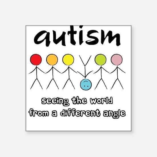 Autism Angle Square Sticker