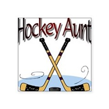 HOCKEY AUNT Square Sticker