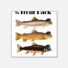 """Trout Pack"" Square Sticker"