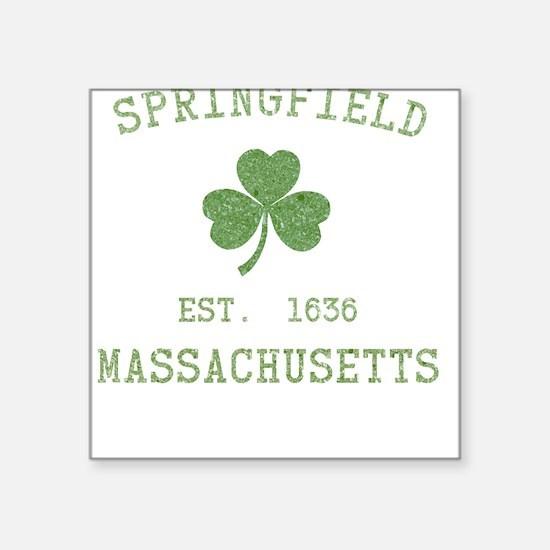 Springfield MA Square Sticker