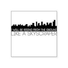 Skyscraper Square Sticker