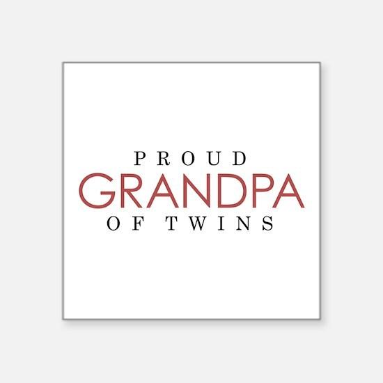 GRANDPA of TWINS - Square Sticker