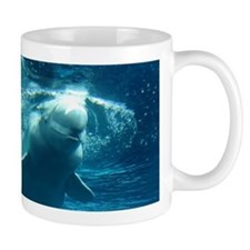 Close up of a Beluga Whale 5 Small Mug