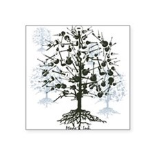 Guitars Tree Roots Square Sticker