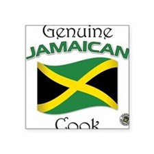Genuine Jamaican Cook Square Sticker