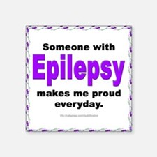 Epilepsy Pride Square Sticker