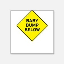 Baby Bump Below Square Sticker