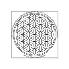Square Sticker - Flower Of Life