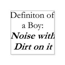 Definition of a Boy Square Sticker