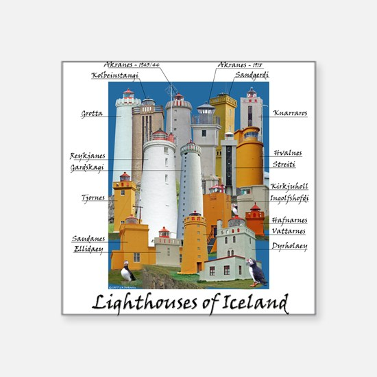Lighthouses of Iceland Square Sticker