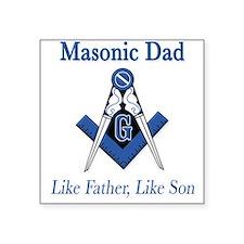 Masonic Dads Square Sticker