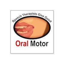 Speech Therapy Oral Motor Square Sticker