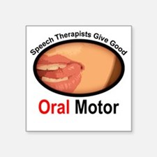 Speech Therapy Oral Motor Square Sticker