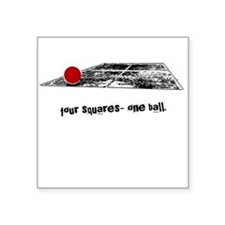 four squares one ball Square Sticker