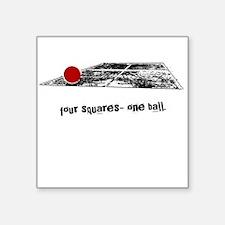 four squares one ball Square Sticker