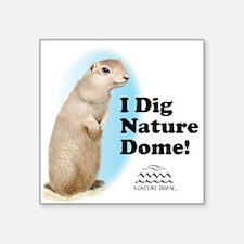 Nature Dome Women Gopher Square Sticker