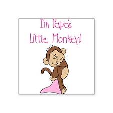 Papa's Monkey(pink) Square Sticker