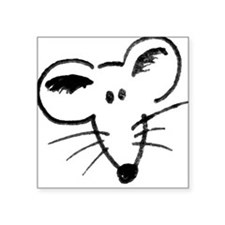 Rat Face Square Sticker