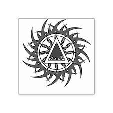 Tribal Sober 2 Square Sticker