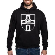 Crusaders Cross - Knights Templar B-W Hoodie